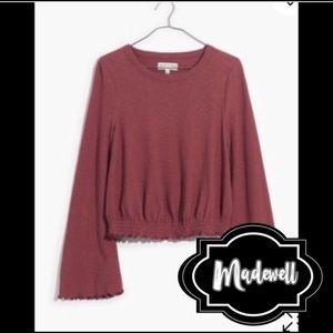 Madewell smocked bell sleeve blouse